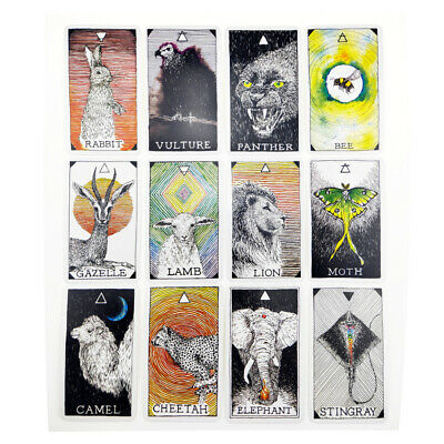 53pcs Animal spirit Tarot Deck Oracle Cards Jeu d'outils tarot Cartes de sagesse