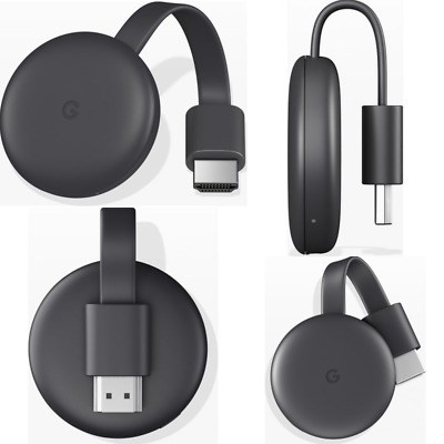 Google Chromecast (2018 Gen) Bluetooth GA00439-GB 2GB HD 512 MB RAM WiFi