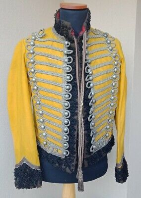 Post Napoleonic style hussar officer pelisse jacket with astrakhan fur trim