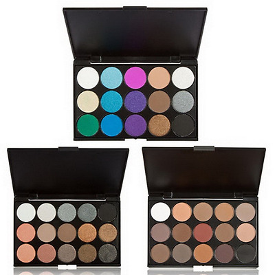 15 Colors Cosmetic Matte Smoky Eye Shadow Makeup Eyeshadow Palette Kit Shimmer