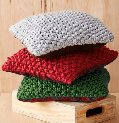 KNITTING PATTERN Easy Knit 5 Styles Cushions//Pillow Chunky King Cole 5193