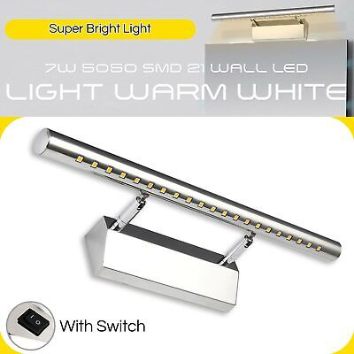 2020 7W Over Mirror Lamp Cabinet Wall LED Front Light Bathroom T-Bar With Switch