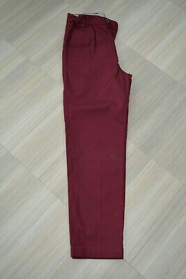 Marks and Spencer AUTOGRAPH Burgundy Chino Boys Trousers - Age 11 - 12 Years