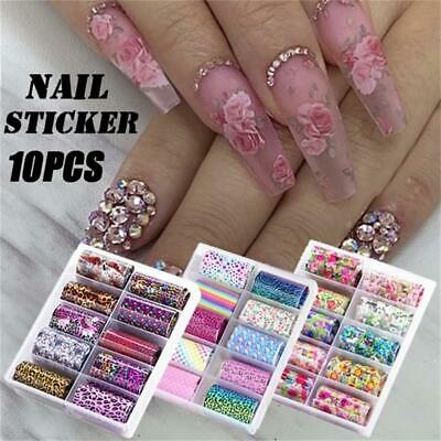 Flower Transfer Holographic Decals Manicure Decor Nail Foil Nail Art Stickers