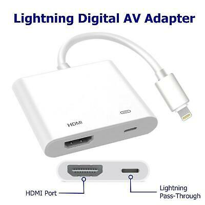 Lightning to HDMI Digital TV AV Adapter Cable For Apple iPad iPhone XS X 8 7 UK