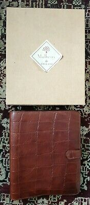 1993 Mulberry Congo Leather  Planner Organiser. New Boxed Mulberry Planner.