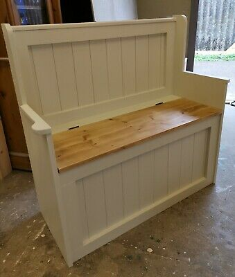 NEW HANDMADE SOLID PINE 3FT MONKS BENCHES... 10 Farrow and Ball colour choices
