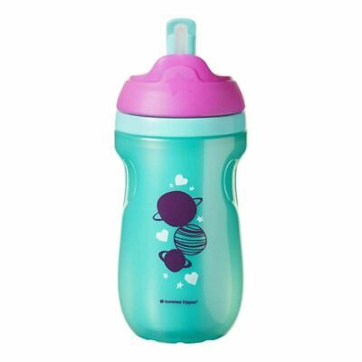 Tommee Tippee Insulated Straw Cup - Green - Space - 260ml