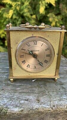 Beautiful Vintage Bayard French Brass Carriage Clock *