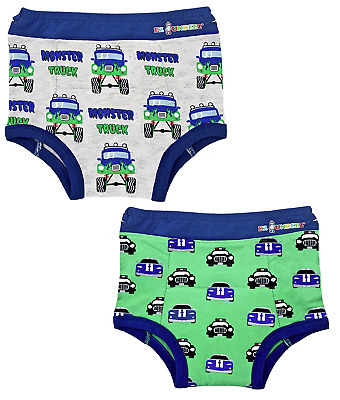 Ez Undeez Toddler Potty Training Pants with Padded Layer 3T, Monster Trucks-Cars
