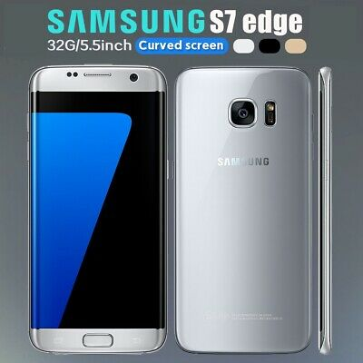 SAMSUNG GALAXY S7 Edge 32GB Unlocked 4G SIM Android Mobile Phone Various 3 Color
