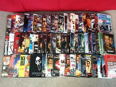 Job Lot Bundle Collection of DVD Movies - Mostly Action, Horrors and Thrillers