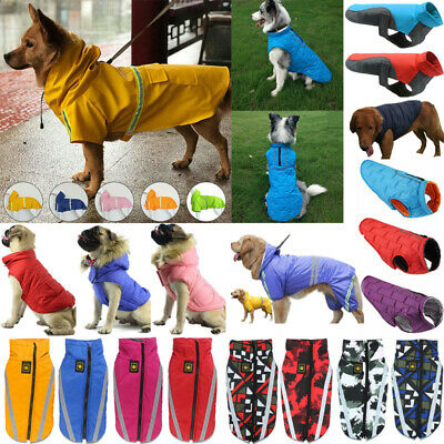 Waterproof Pet Dog Clothes Winter Autumn Warm Padded Coat Vest Jacket Raincoat