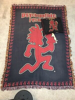 Insane Clown Posse Knit Afghan Blanket & Pillow Hatchet Man Psychopathic Records