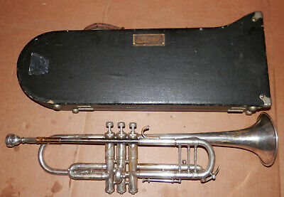 Vintage 1925 The Buescher Silver Trumpet w/ Bach NY #6 Mouthpiece! !NoReserve!