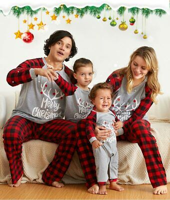 Family Matching Xmas PJs Christmas Adult Kids Pyjamas Nightwear Sleepwear Gifts