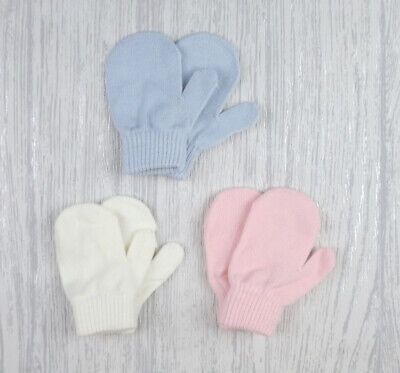 Baby Boys & Girls Traditional Knitted Magic Mittens Gloves Mitts