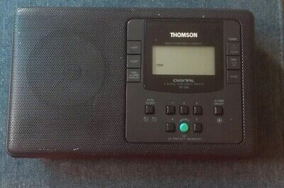 Vintage Thomson Rt 550 Portable Radio Black