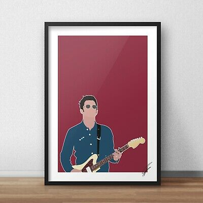 Noel Gallagher INSPIRED WALL ART Print / Poster A4 A3 oasis liam high flying