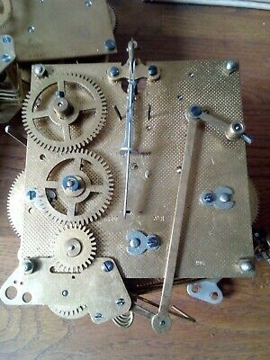 Vintage Hamburg American Westminster Chime Clock Movement ( spares or repair)