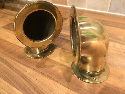 Pair Vintage Brass Ships Dorades Air Vents Maritime Marine Nautical Boat