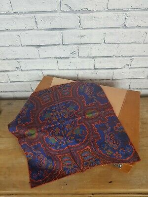Silk Pocket Square Paisley Print Multi Coloured