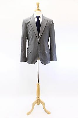 NWT Brunello Cucinelli Men's Lightweight 100% Cotton Pinstripe Blazer 50/40 A176