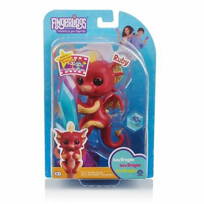Fingerlings - Baby Red Dragon Ruby - With Glitter - Christmas Gift