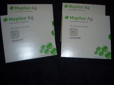 2 Boxes NEW Mepilex Ag 4x4 (287100) 2 Unopened New  Box Of 5
