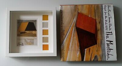 Christo and Jeanne Claude: The MASTABA: book+collage artcard signed (5 fabrics)