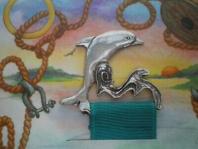 Dolphin Shaped Pewter Bookmark - Seagull Pewter Canada