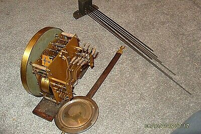 Clock Parts Complete Tymo  Westminster  Movement Working  Wall Clock