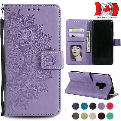 For Samsung S10 Note 10 Plus A8 A9 Note 9 Pattern Leather Flip Card  Wallet Case