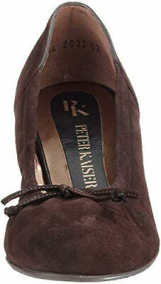 Peter Kaiser Ladies Womens Slip On Low Heel Leather Suede Wedge Shoes Brown