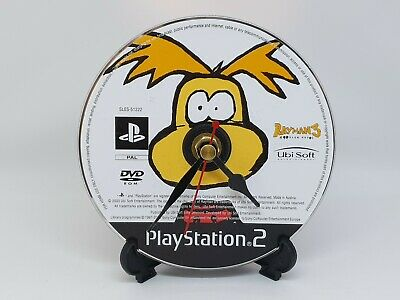 Rayman CD Clock Video Game Upcycled Retro Gamer Gift Idea