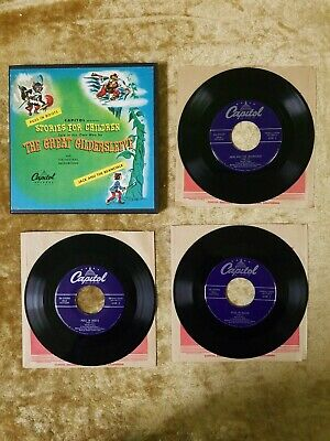 """THE GREAT GILDERSLEEVE Stories For Children 3x 7"""" 45RPM Box Set CAPITOL CCF-3039"""