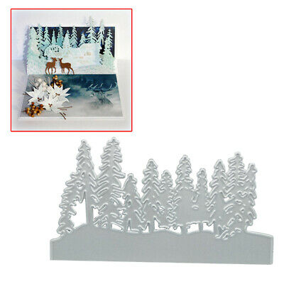 Christmas Tree Cutting Dies Cut Die Mold Scrapbook Craft Mould Stencils Metal