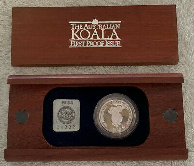 1988 $50 Platinum Coin The Australian Koala First Proof Issue 1/2 Ounce
