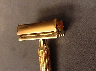 Vintage Gillette 1940's Aristocrat Gold Safety Razor in Original Case