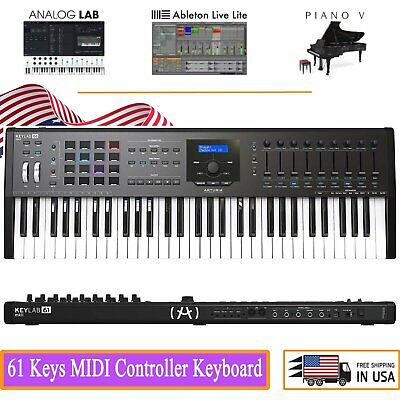 Arturia KeyLab 61 MkII Essential 61 Keys MIDI Keyboard Controller Synth Sounds