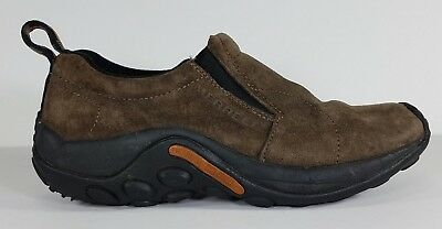 Merrell brown suede leather slip on casual clogs loafers shoes ladies size 7