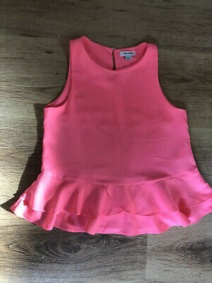 Bright Neon Pink River Island Blouse Top Girl's Age 8 Never Worn