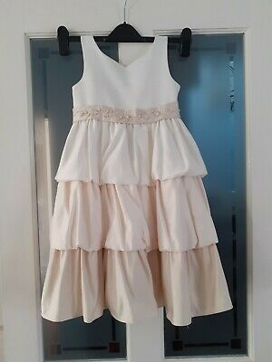 CINDERELLA Girls Gorgeous Cream Tiered Sleeveless Special Occasion Dress age 6