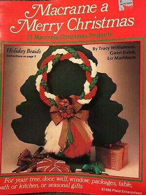 PLAID #7458 MACRAME A MERRY CHRISTMAS 21 macrame Christmas projects