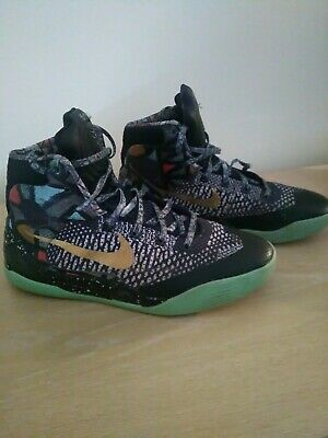 NIKE 'KOBE 9 ALL STAR' - GLOW IN THE DARK - MID CUT Size US7Y