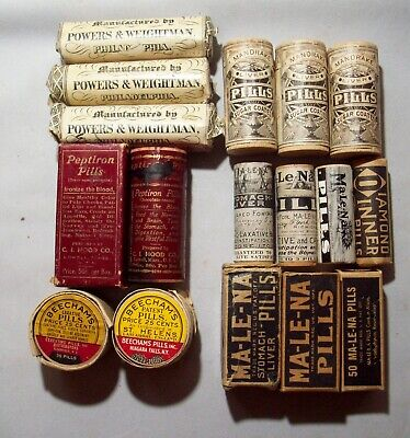 Lot of Thirteen (13) Quack Medicines – Great Graphics, Great Selection