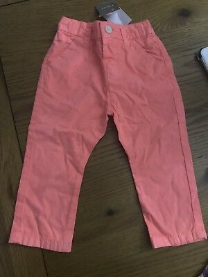 Baby Girls Orange Jeans Trousers Size 12-18 Months BWWT next