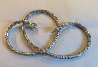 Vintage Whiting & Davis Mesh Silver Toned Snake Belt/Necklace