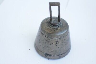 Rare Antique Swedish Antique XIX c Swedish bronze bell with two clappers