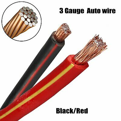 Vehicle Primary Cable Power Wire 24mm2 DC 12V Amplifier Booster/Battery Welding